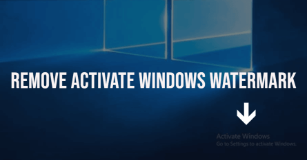 How to Remove Activate Windows 10 Watermark?